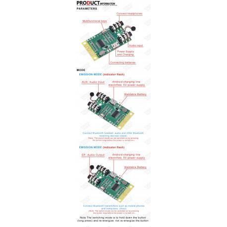 Modul decodor mp3 bluetooth 4.2 transmitator si receptor