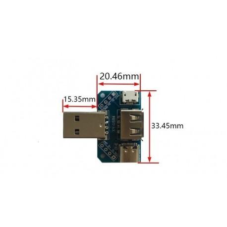 Spliter convertor USB 2.54-4p cu 4 intrari/iesiri