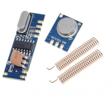 Kit wireless RF 433MHz ASK transmitator STX882 si receptor SRX882