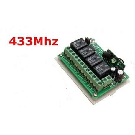 Modul 4 relee / canale 12v 220v 433mhz cu functie invatare telecomenzi