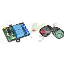Modul 2 relee cu telecomanda 12v 220v 10A 315/433 mhz