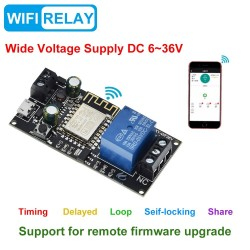 Modul 1 releu wifi Sinilink DC6V~36V