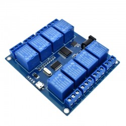 Modul 8 relee 220v 10A comandat prin USB