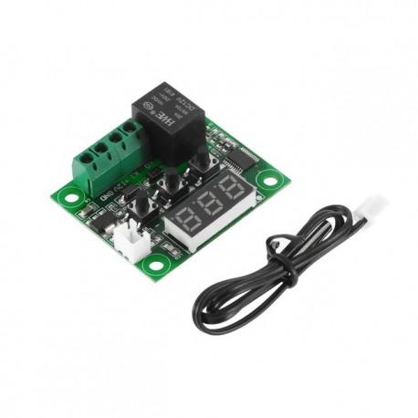 Termostat digital cu afisaj LED rosu 12v cu senzor temperatura