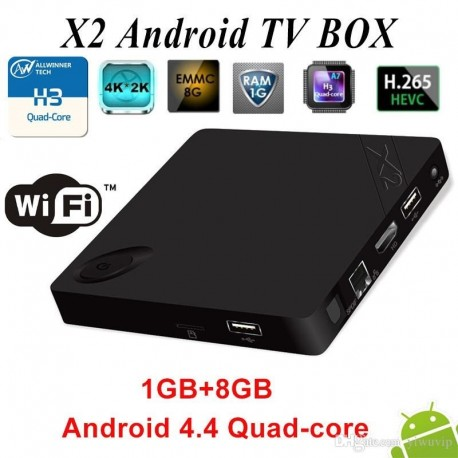 Mini PC Android TV Box Beelink X2 4K H.265 Decoding Quad Core Android 4.4M 1GB RAM DDR3 8GB Flash Wifi HDMI