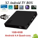 Mini PC TV Box Beelink X2 4K H.265 Quad Core Android 4.4M 1GB RAM DDR3 8GB Flash Wifi HDMI