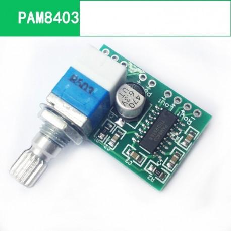 Modul Amplificator Audio cu potentiometru PAM8403