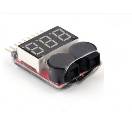Buzzer activ detectare voltaj baterie acumulator Lipo Li-ion Fe cu display led