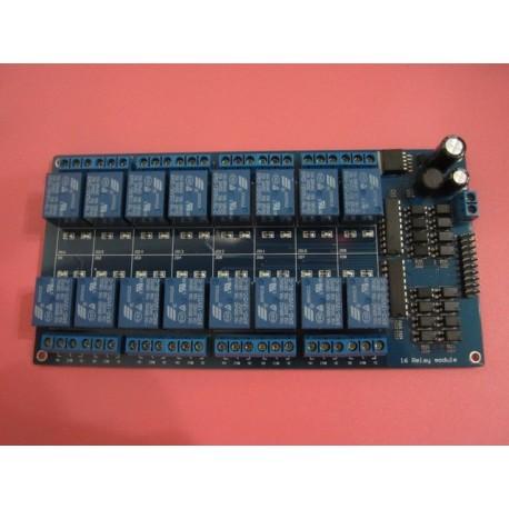 Placa 16 relee 5v 220v cu optocuplor si LM2576