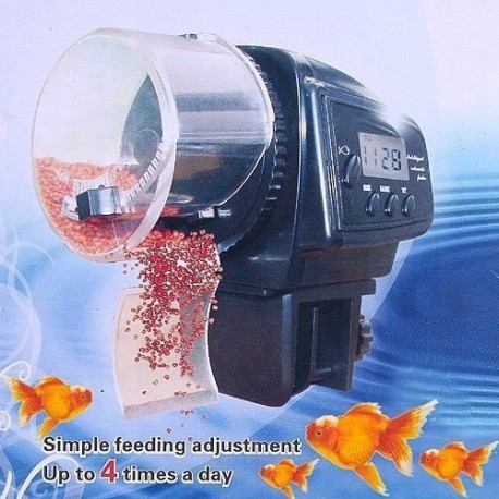 Hranitor automat cu ecran LCD pentru acvariu pesti
