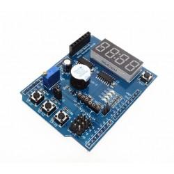 Modul multifunctional cu 4 digiti, senzor temperatura Ds18b20 si LM35, butoane, interfata pentru bluetooth si buzer