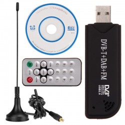 Scaner digital USB 2.0 radio FM DVB-T RTL2832U+R820T2 SDR TV