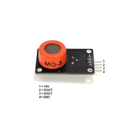 Senzor alcool etanol gaz MQ-3