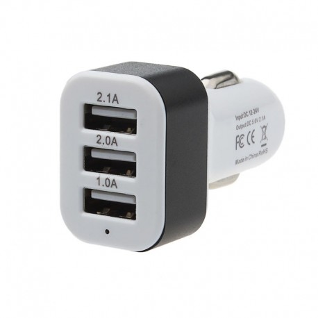 Incarcator auto 12v-24v cu 3 iesiri USB 5v 2A