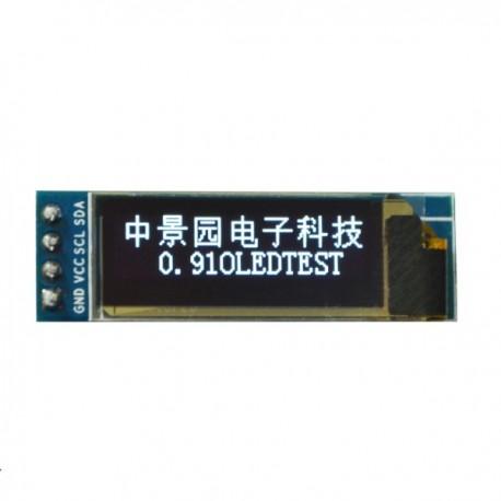 """Ecran 0.91"""" LCD OLED I2C IIC SPI 128X32 pixeli"""