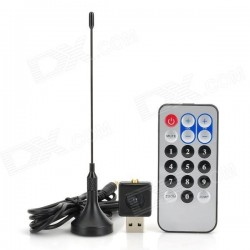 Mini scaner digital USB 2.0 radio FM DVB-T RTL2832U+R820T2 SDR TV