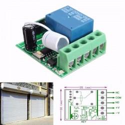 Modul 1 releu cu invatare telecomanda 12v 220v 315/433 mhz