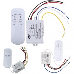 Kit telecomanda si receptor 220v cu 2 canale wireless