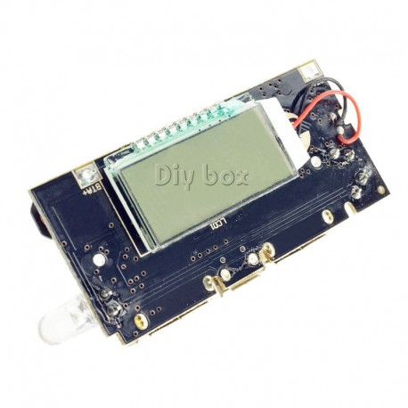 Sursa incarcator dual USB 5V 1A 2.1A cu ecran LCD