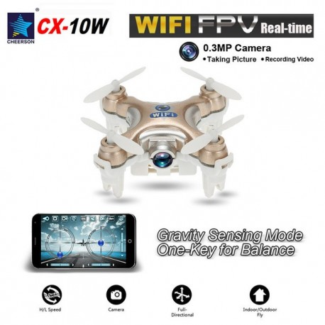 Mini drona Cheerson CX-10W 4 canale 6 Axe Gyro Wifi FPV camera 0.3MP