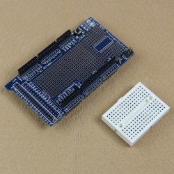 Shield multiplicare arduino mega cu breadboard protoshield v3
