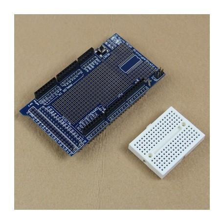 Shield multiplicare arduino mega cu breadboard protoshield v3