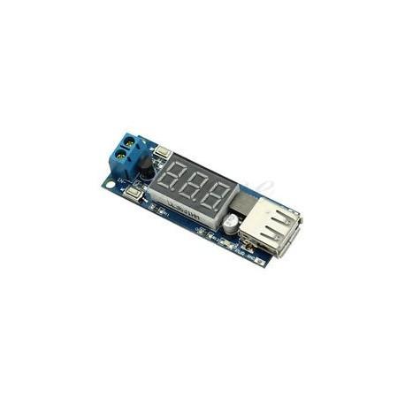 Sursa step down incarcator DC 4.5-40V To 5V 2A USB cu afisaj LED
