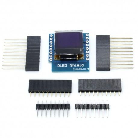 "Ecran shield OLED pentru WeMos D1 0.66 "" 64X48 IIC I2C"