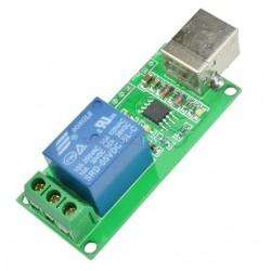 Modul 1 releu 12v-220v comandat prin USB