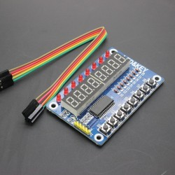 Ecran afisaj cu led 8 digiti keypad si interfata seriala TM1638