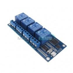 Modul 4 relee 220v comandat prin USB