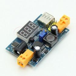 Sursa DC-DC Step Down LM2596 Intrare 3 - 40 V iesire 1.5V - 38V afusaj LED si iesire USB