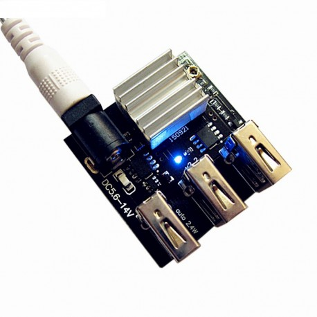 Sursa curent step down DC-DC 9V/12V la 5V 8A iesire 3 porturi USB