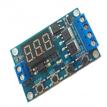 Modul programabil timer cu optocuplor si afisaj LED 12V 400W 15A