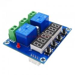 Termostat digital cu afisaj dublu led 12V senzor temperatura si umiditate XH-M452