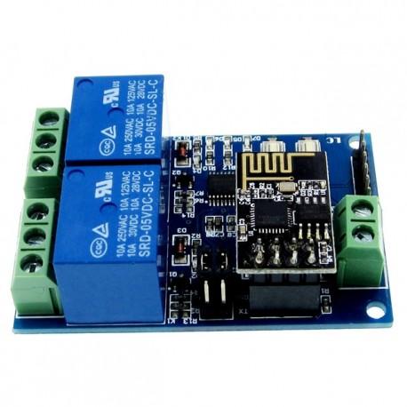 Modul ESP01 2 relee WIFI cu ESP8266 5v 220v