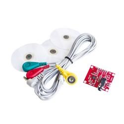 Modul cu senzori pentru monitorizare puls ritm cardiac EKG AD8232