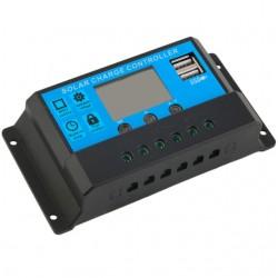 Regulator controler panouri solare cu afisaj LCD 2 porturi usb 30A 12V/24V