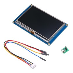 "Ecran display 4.3"" Nextion XD HMI USART GPU serial cu Touch screen"