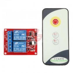 Kit 2 relee 12V 220v cu telecomanda infrarosu IR