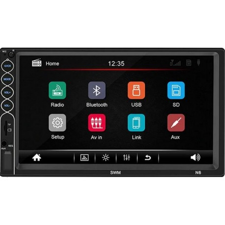 Mp3 MP5 2 DIN Player cu ecran 7 Inch Bluetooth Stereo Radio Touch Screen HD
