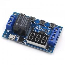 Modul timer programabil DC 6-30V Micro USB 5V cu afisaj display LED