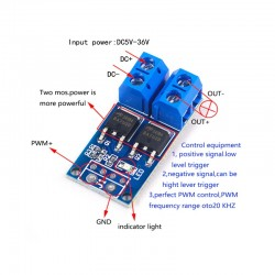 Controler regulator driver PWM 15A 400W MOS FET Trigger